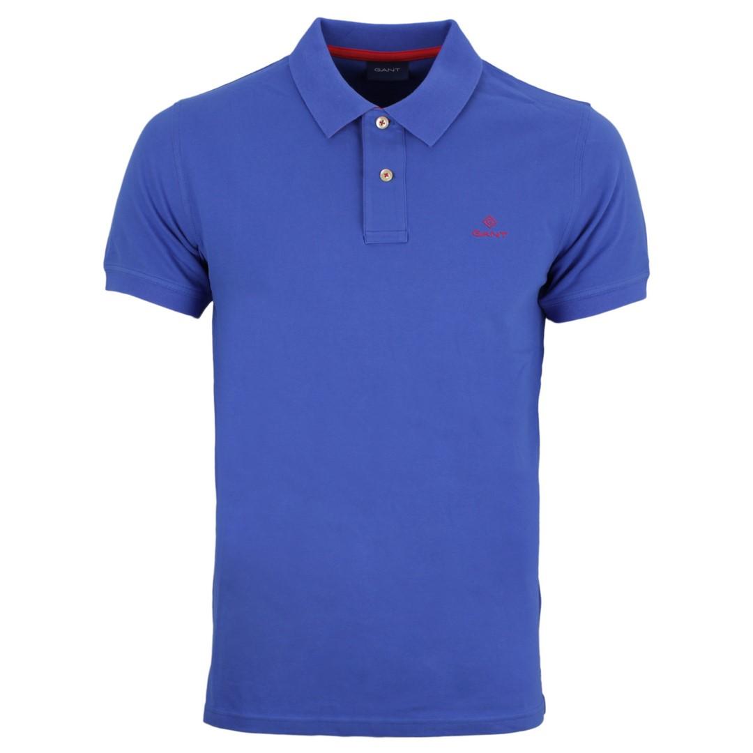 Gant Herren Polo Shirt blau unifarben 2052003 422