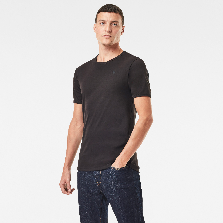 G-Star Raw Round Neck Doppelpack Basic T-Shirt weiß  schwarz D07205 124 1288