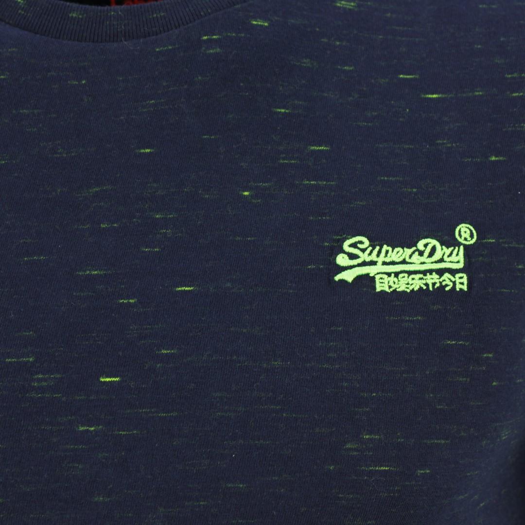 Superdry Herren T-Shirt Vintage EMB Crew blau M1010024A T1Z navy space dye