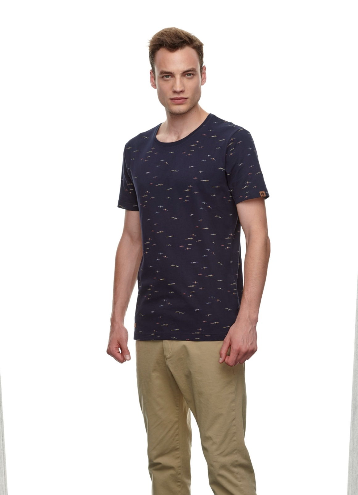 Ragwear Herren T-Shirt Taylor blau Allover Print 2112 15010 2028 navy