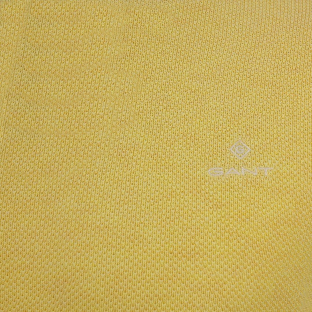 Gant Strick Pullover Cotton Pique gelb unifarben 8030521 798 Brimstone Yellow Me