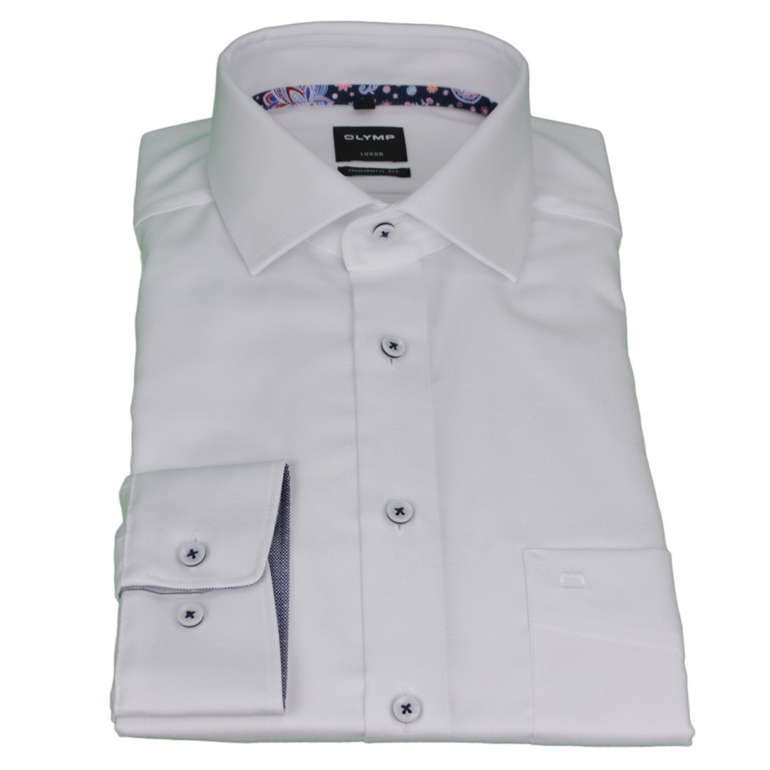 Olymp Herren Luxor Modern Fit Hemd weiß unifarben 5882 09 00