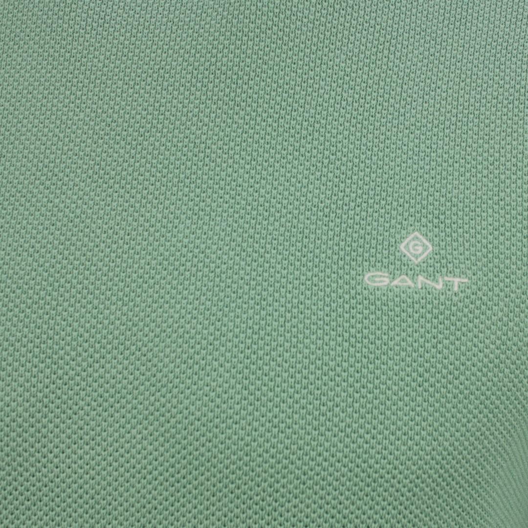 Gant Strick Pullover Cotton Pique Minz grün unifarben 8030521 351 Peppermint