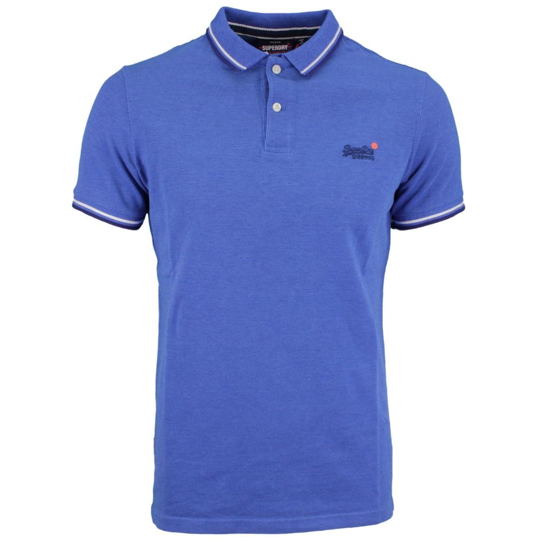 Superdry Herren Shirt Pool Classic Poolside Pique Polo blau M1110057A 3FK blue