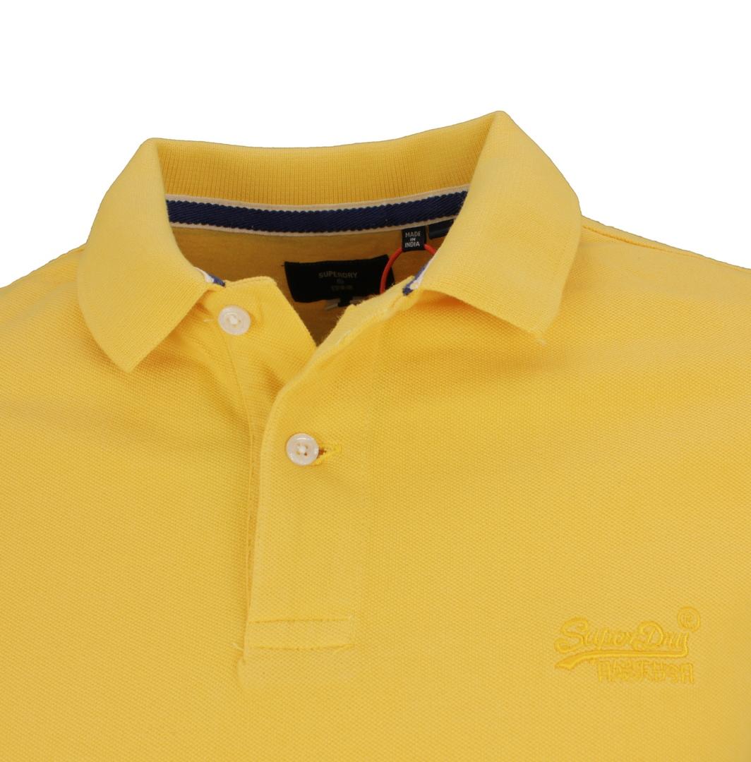 Superdry Herren Polo Shirt Vinatge Destroyed Polo gelb M1110198A RUA Gold
