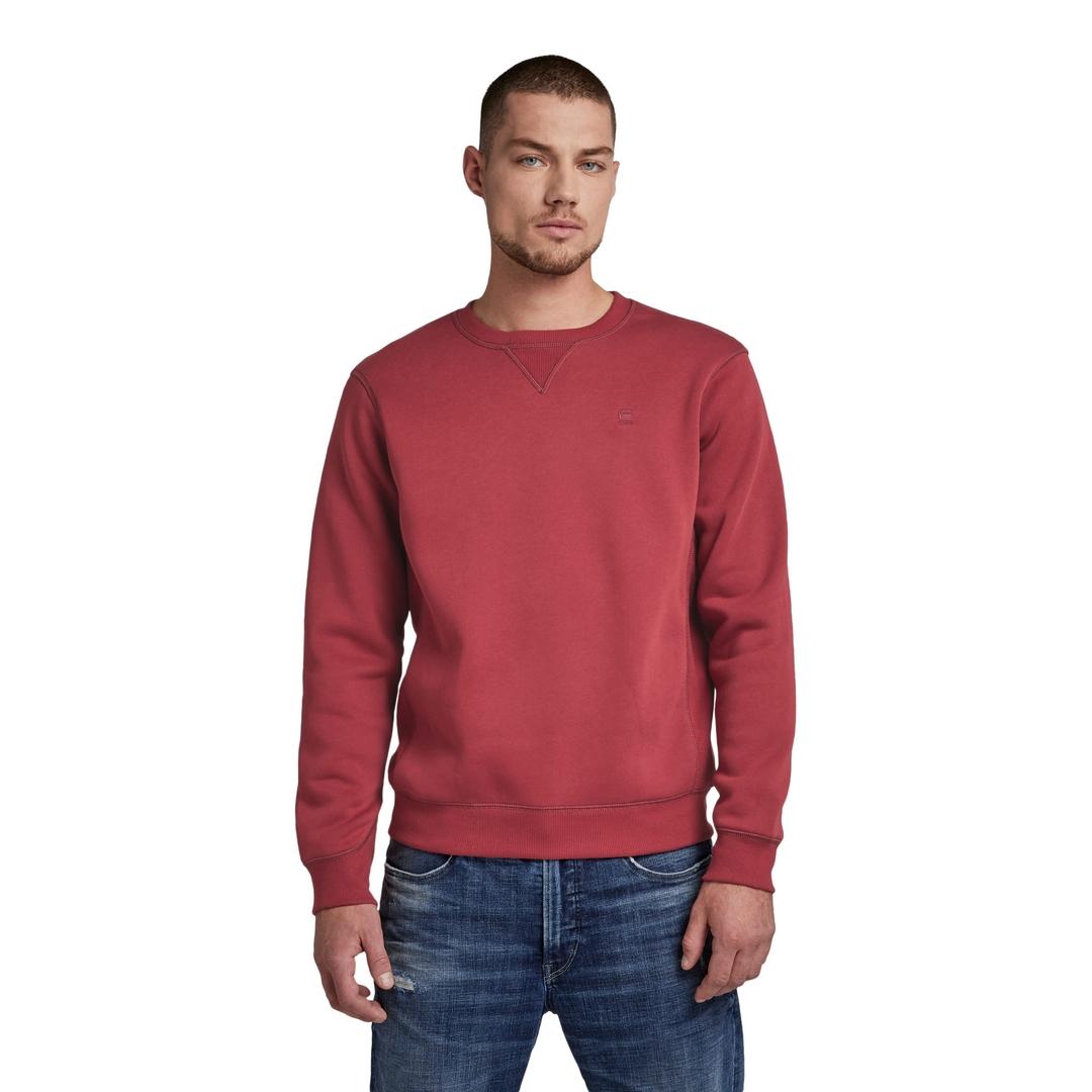 G-Star Raw Premium Core Sweatshirt Uni rot D16917 C235 1330 chateaux red
