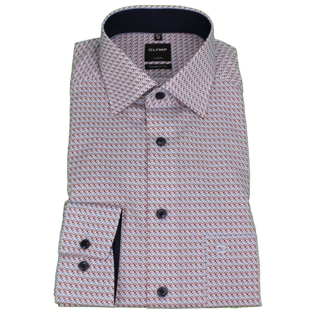 Olymp Herren Luxor Modern Fit Hemd mehrfarbig gemustert 125664 34