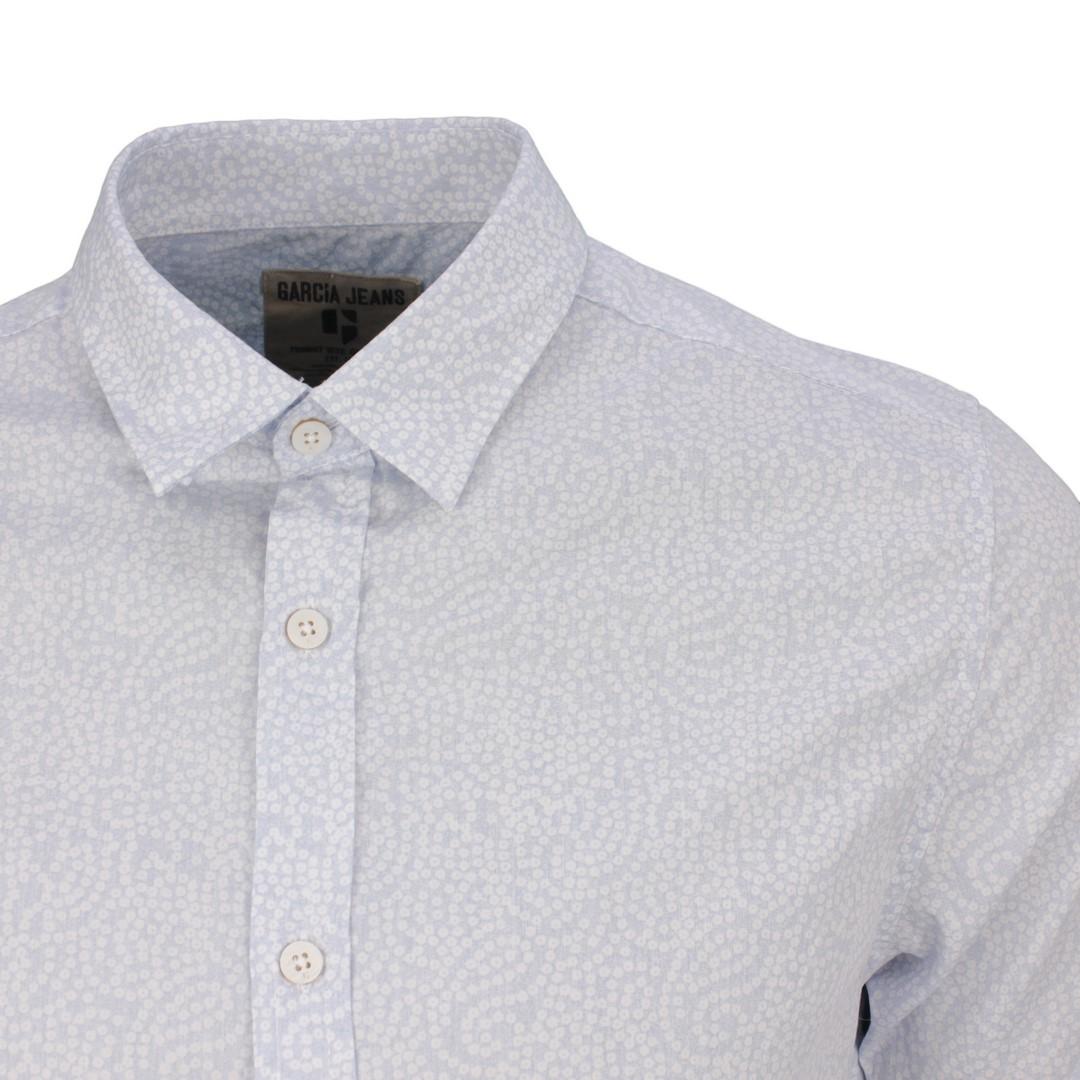 Garcia Herren Freizeit Hemd 1/2 halb Arm blau Minimal Muster E71031 2255