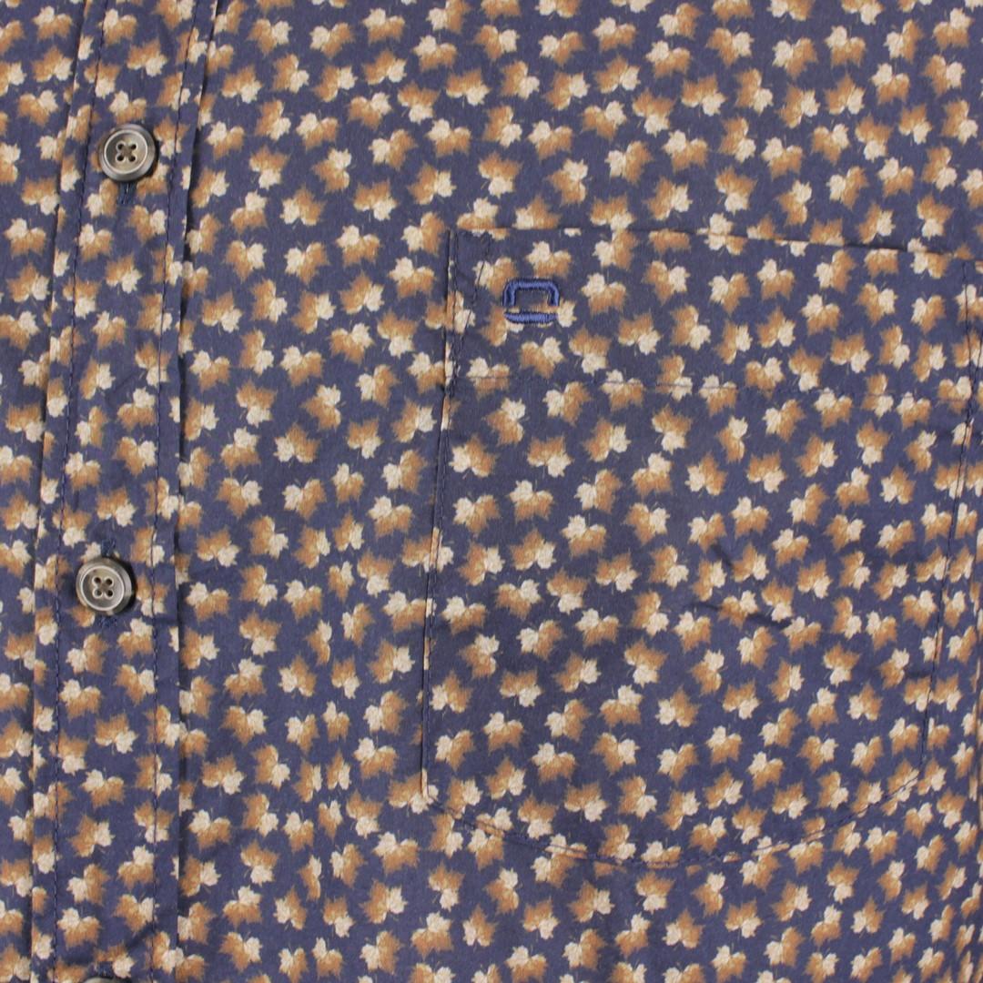 Olymp Herren Casual Freizeit Hemd blau braun gemustert 400064 18