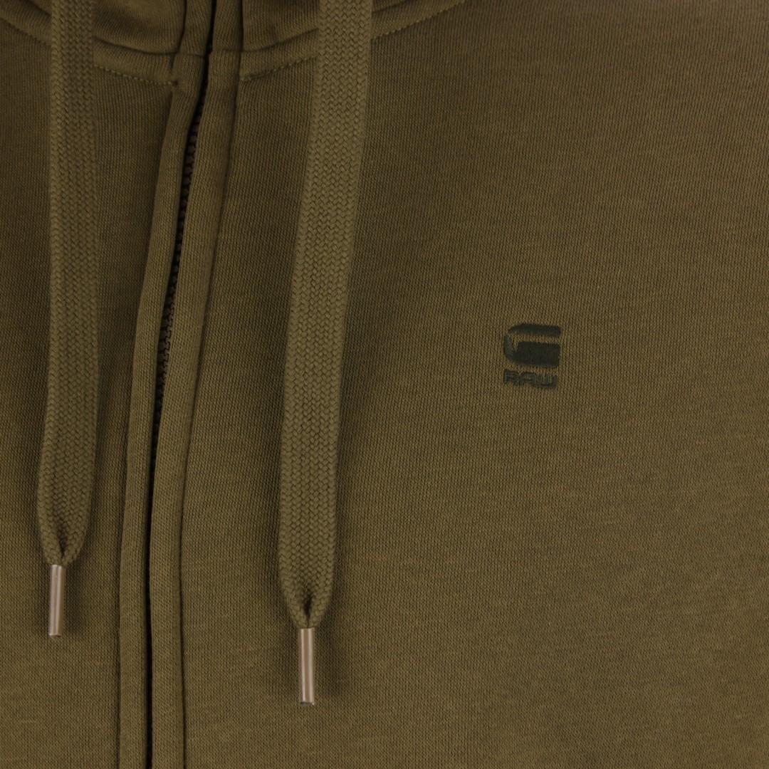 G-Star Raw Sweat Jacke Premium Basic Hooded Zip grün D16122 C235 1866 Wild olive