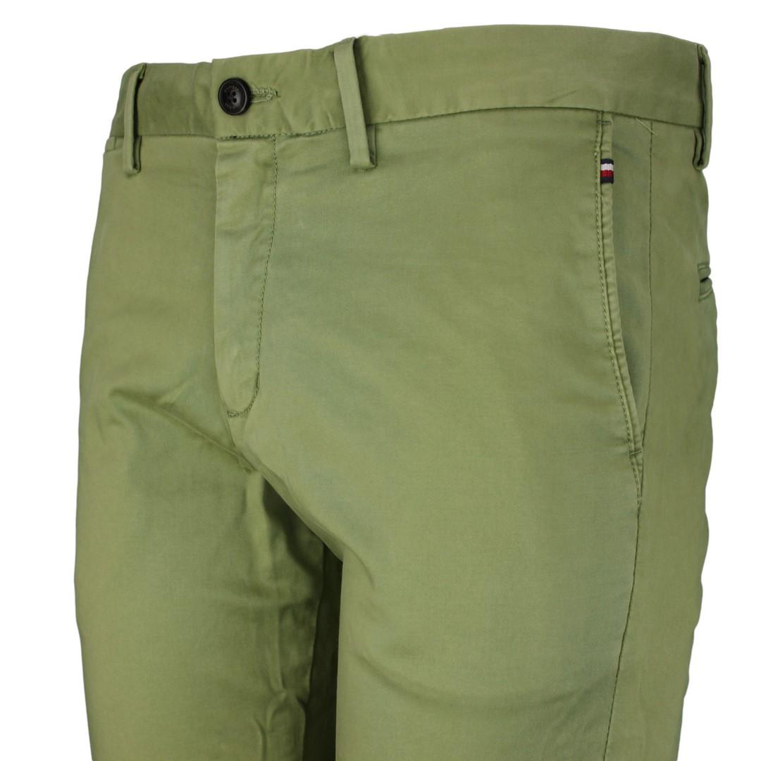Tommy Hilfiger Chino Hose TH FLEX grün unifarben MW0MW13287 L9F