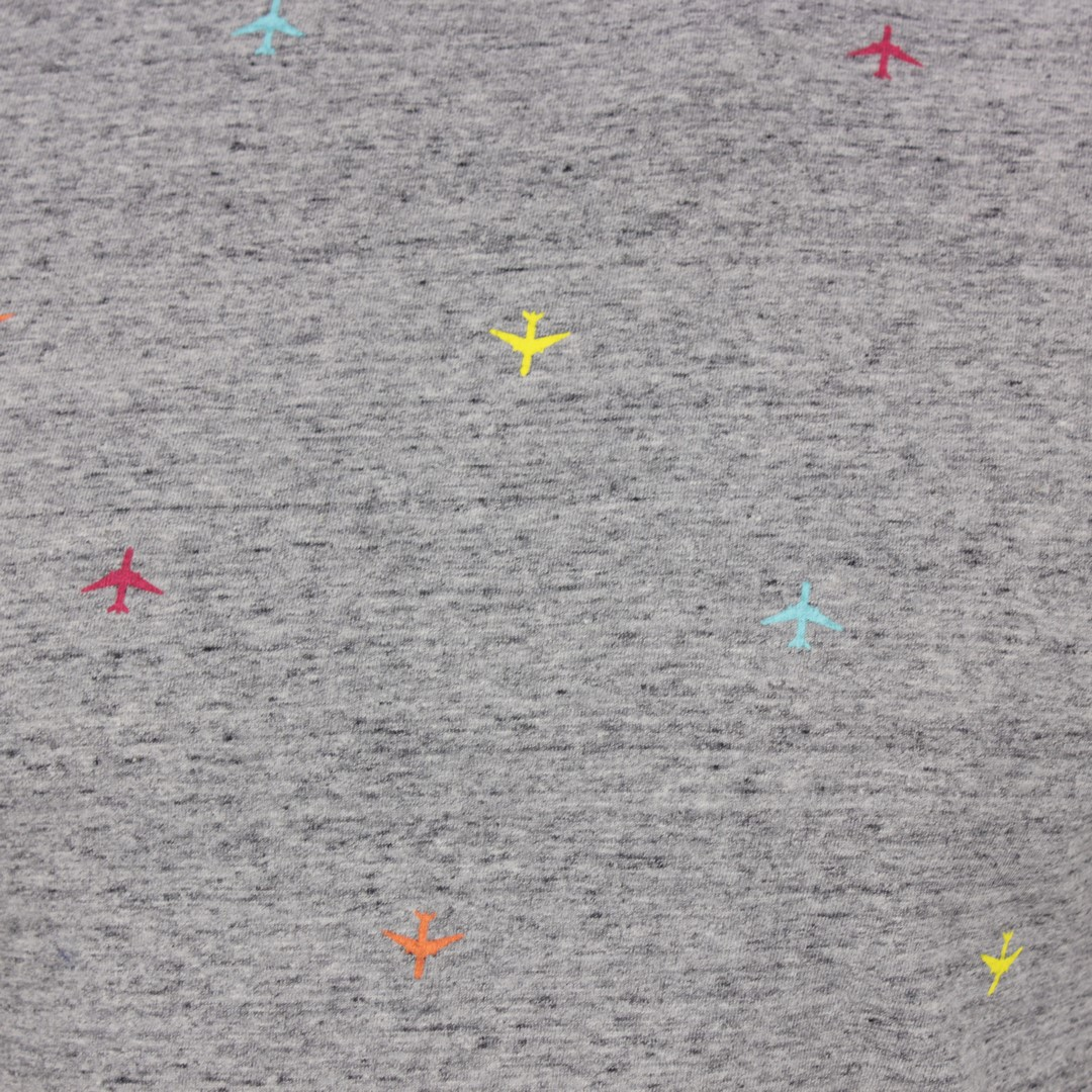 Superdry T-Shirt Organic Cotton All Over Print grau M1010060A 9SS d.grey