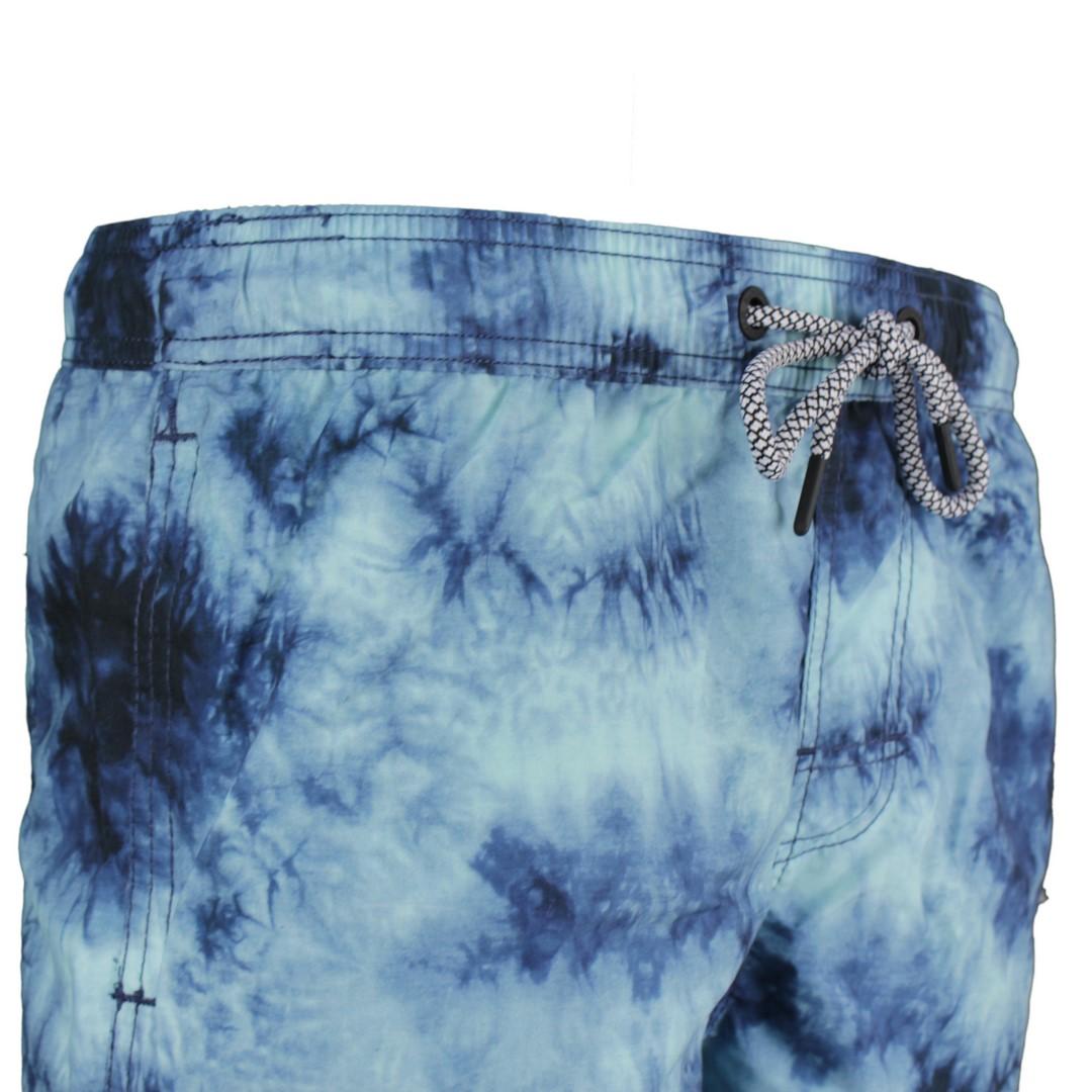 Superdry Badehose Tie Dye Volley Swim Short blau Batik M3010030A SAJ navy