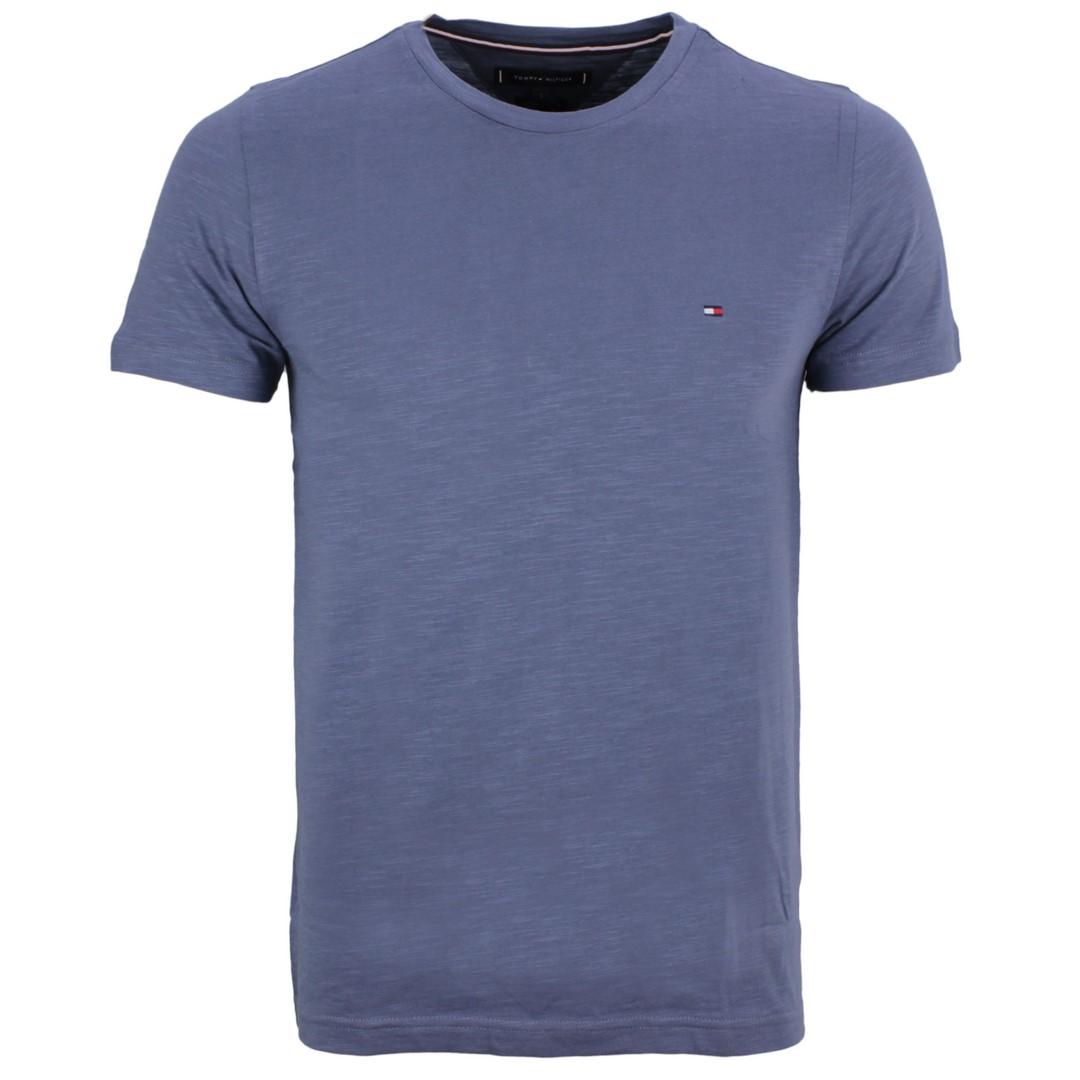Tommy Hilfiger Herren T-Shirt blau unifarben MW0MW14983 C9T