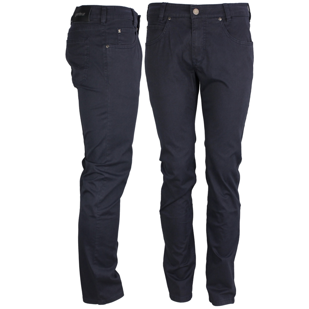 Gardeur Herren Jeans Hose blau fein gemustert BILL-3 411571 67