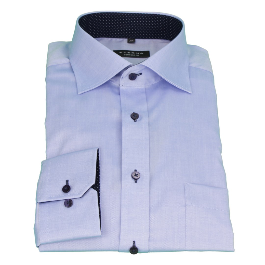 Eterna Herren Business Hemd Comfort Fit blau Uni Unifarben 8100 E137 12