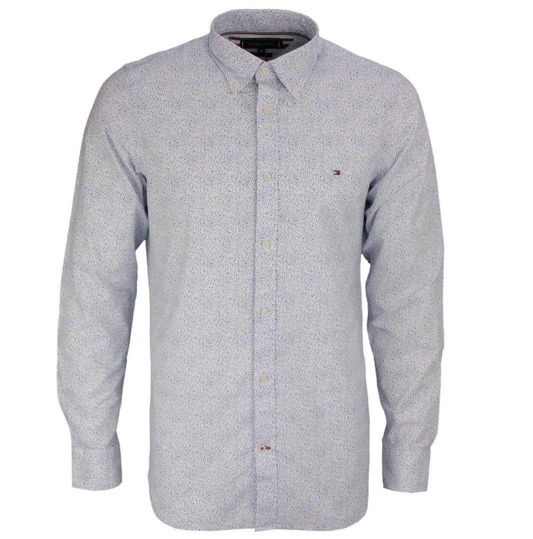 Tommy Hilfiger Herren Hemd Slim Micro Floral Print Shirt MW0MW17573 0K4