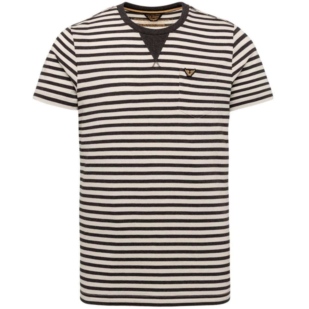 PME Legend Herren T-Shirt schwarz weiß gestreift PTSS212532 9114