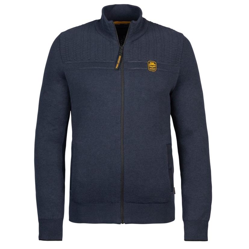 PME Legend Herren Strick Jacke blau Zip Jacket Cotton Double Knit PKC216357 5288 night sky