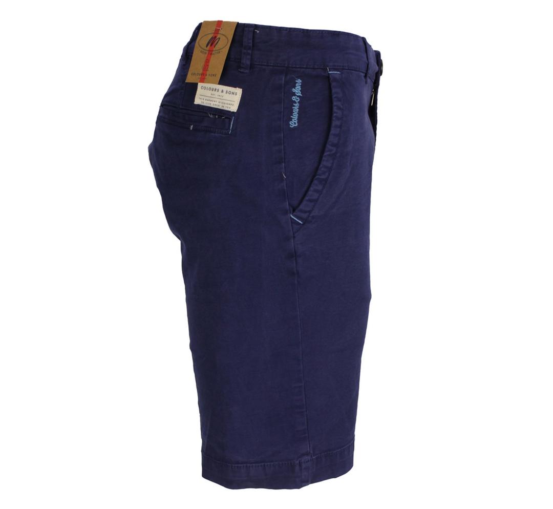 Colours & Sons Basic Chino Shorts dunkel blau unifarben 9121 998 699