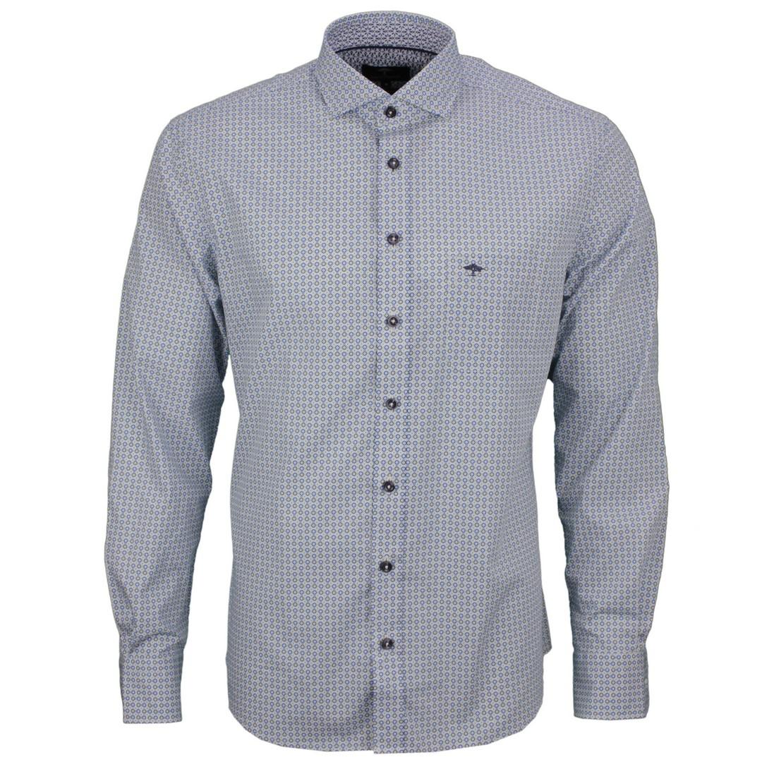 Fynch Hatton Herren Freizeit Hemd mehrfarbig gemustert 11218123 8123 lemon