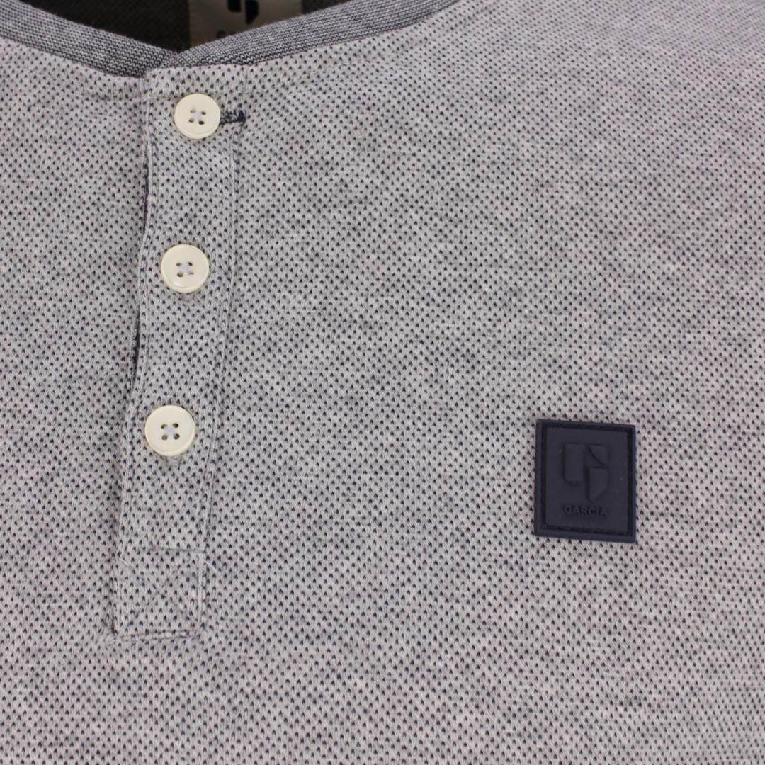 Garcia Herren langarm Shirt grau gemustert B11215 66 grey melee