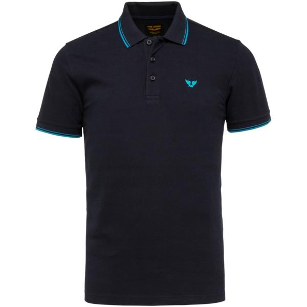 PME Legend Polo Shirt Stretch Pique dunkel blau unifarben PPSS214871 5073