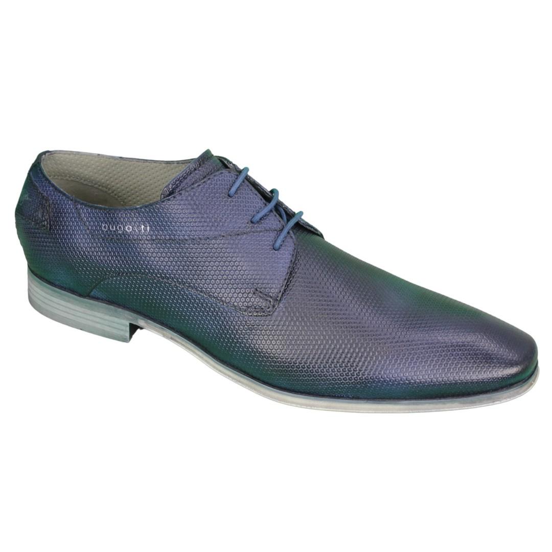Bugatti Herren Schuhe Schnürschuhe blau 311420092100 dark blue
