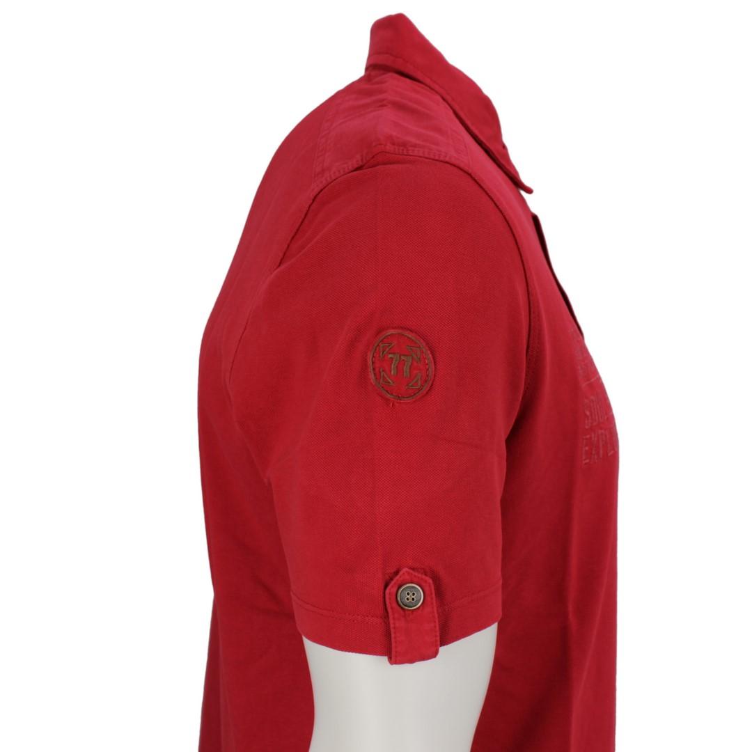 Camel active Herren Polo Shirt rot unifarben 3P25 409473 40