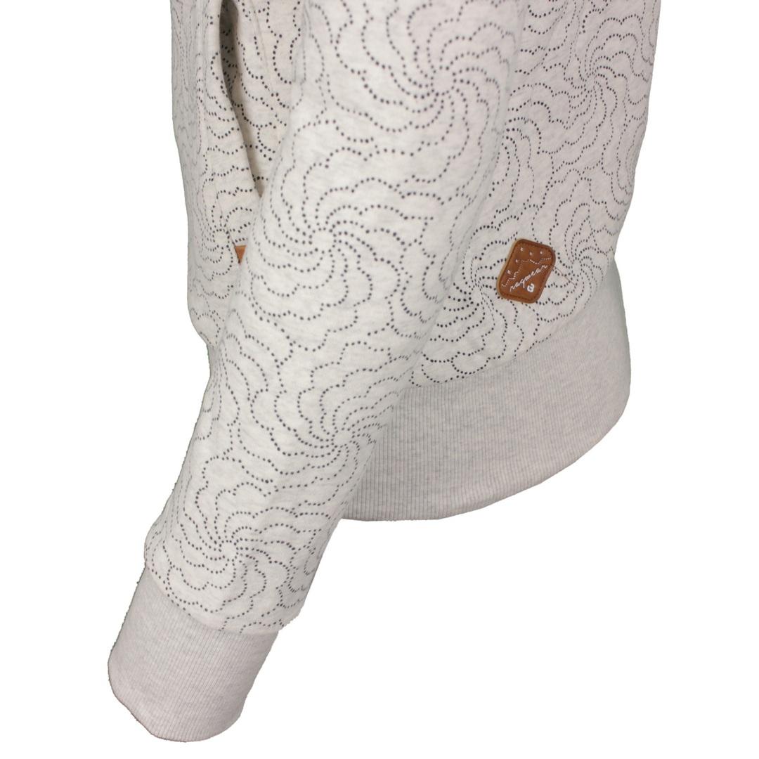 Ragwear Damen Sweat Jacke Sweat Weste Izolda Print weiß gemustert 2121 30035 7000 white