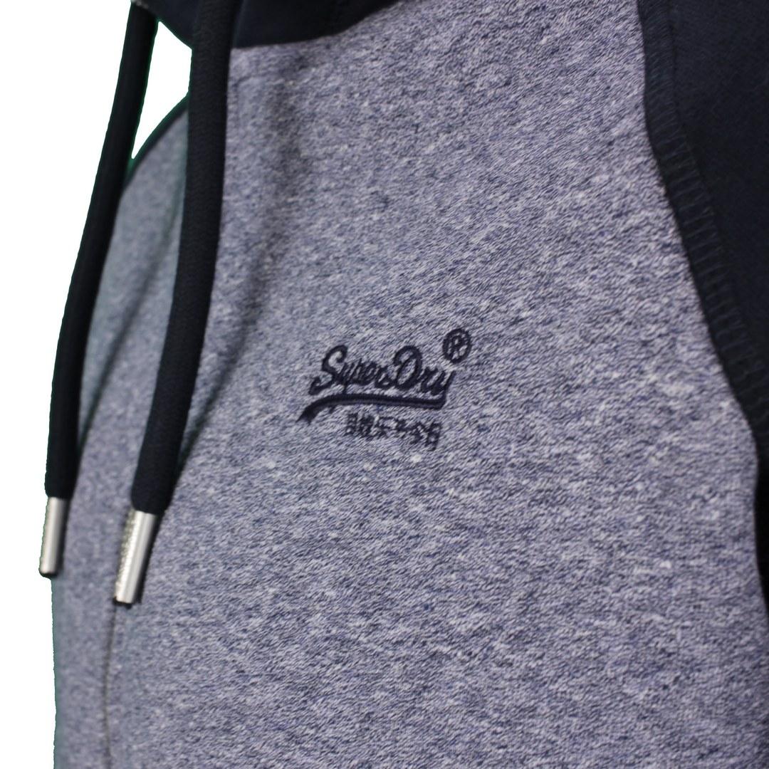 Superdry Sweat Jacke Sweat Weste blau M2011448A 6IJ blue navy Tois Grit Eclpse Navy VLE Baseball Zip