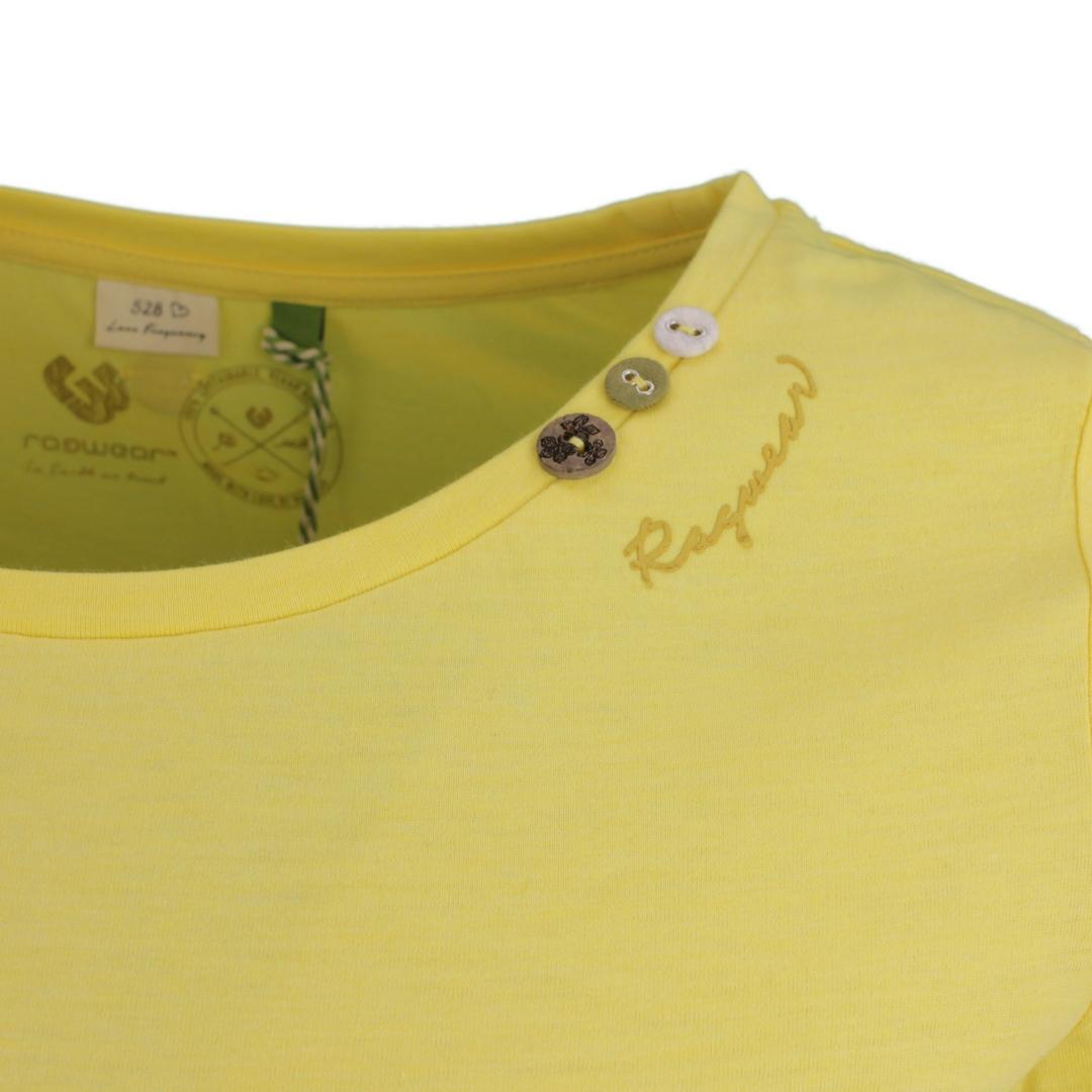 Ragwear Damen T-Shirt Florah a Organic gelb unifarben 2111 10049 6028 Yellow