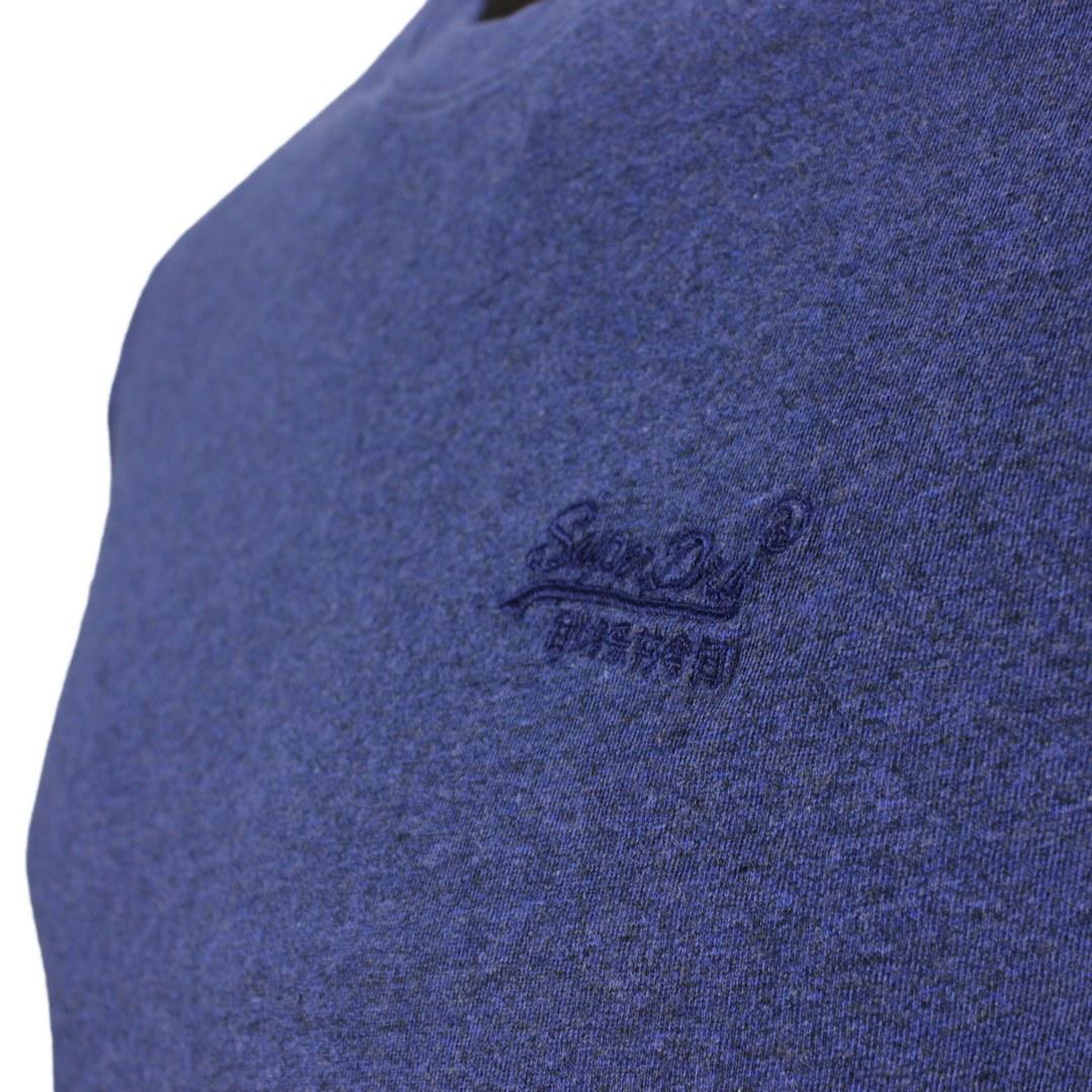 Superdry T-Shirt Rundhals Shirt Vintage Logo Emb Tee blau uni M1011245A 5XV bright blue