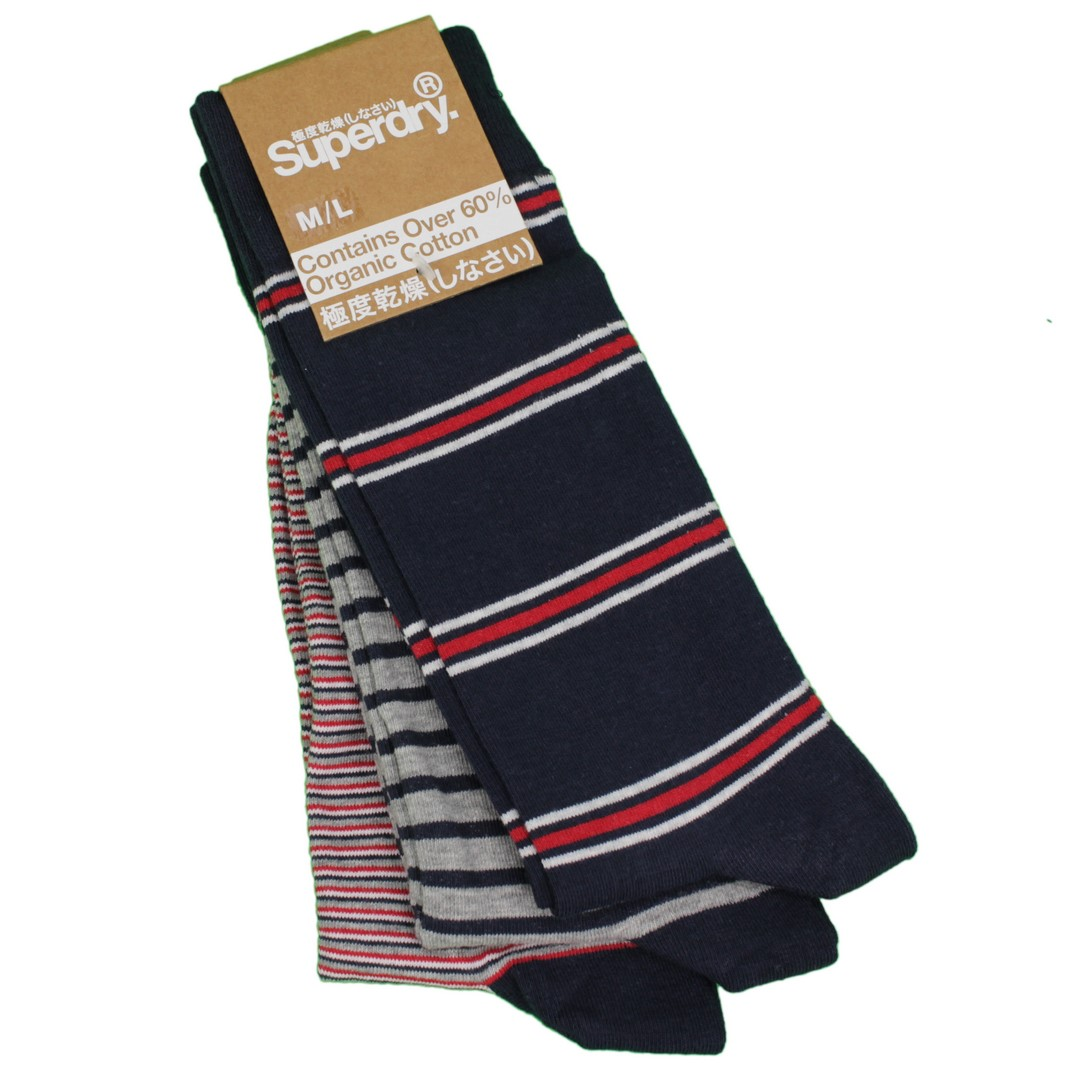 Superdry City Socken Dreier Pack mehrfarbig gemustert M3110102A I6W