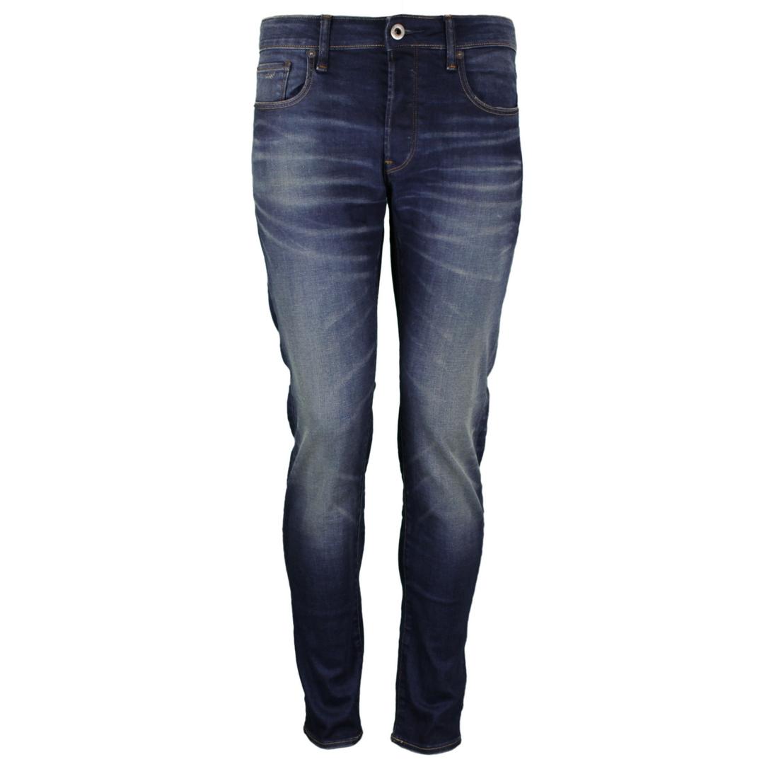 G-star Herren Jeans Hose Jeanshose 3301 Slim Fit Jeans Denim blue 51001 A088 A888