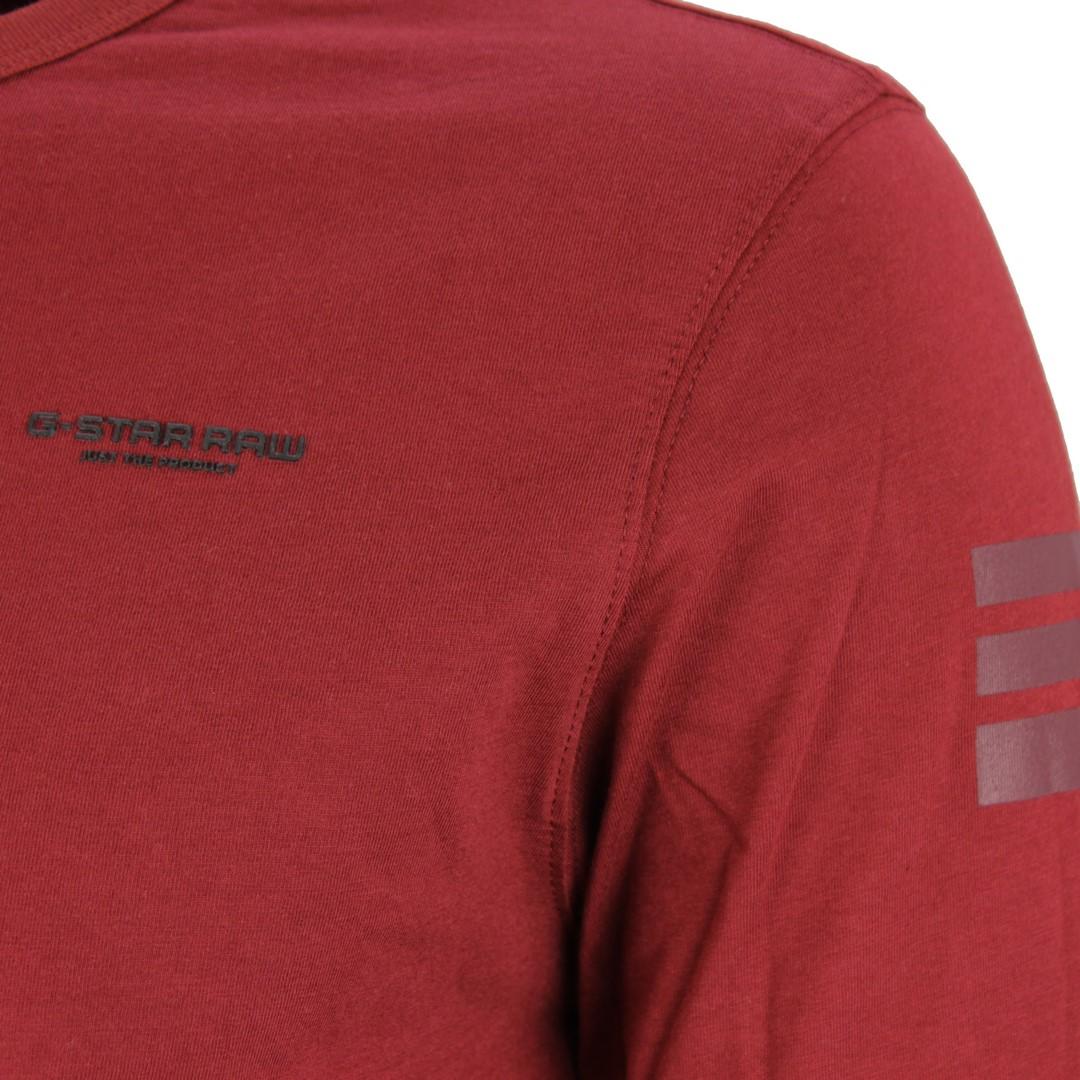 G-Star Raw langarm Shirt Base R T L rot unifarben D17684 336 B729 dust Brick