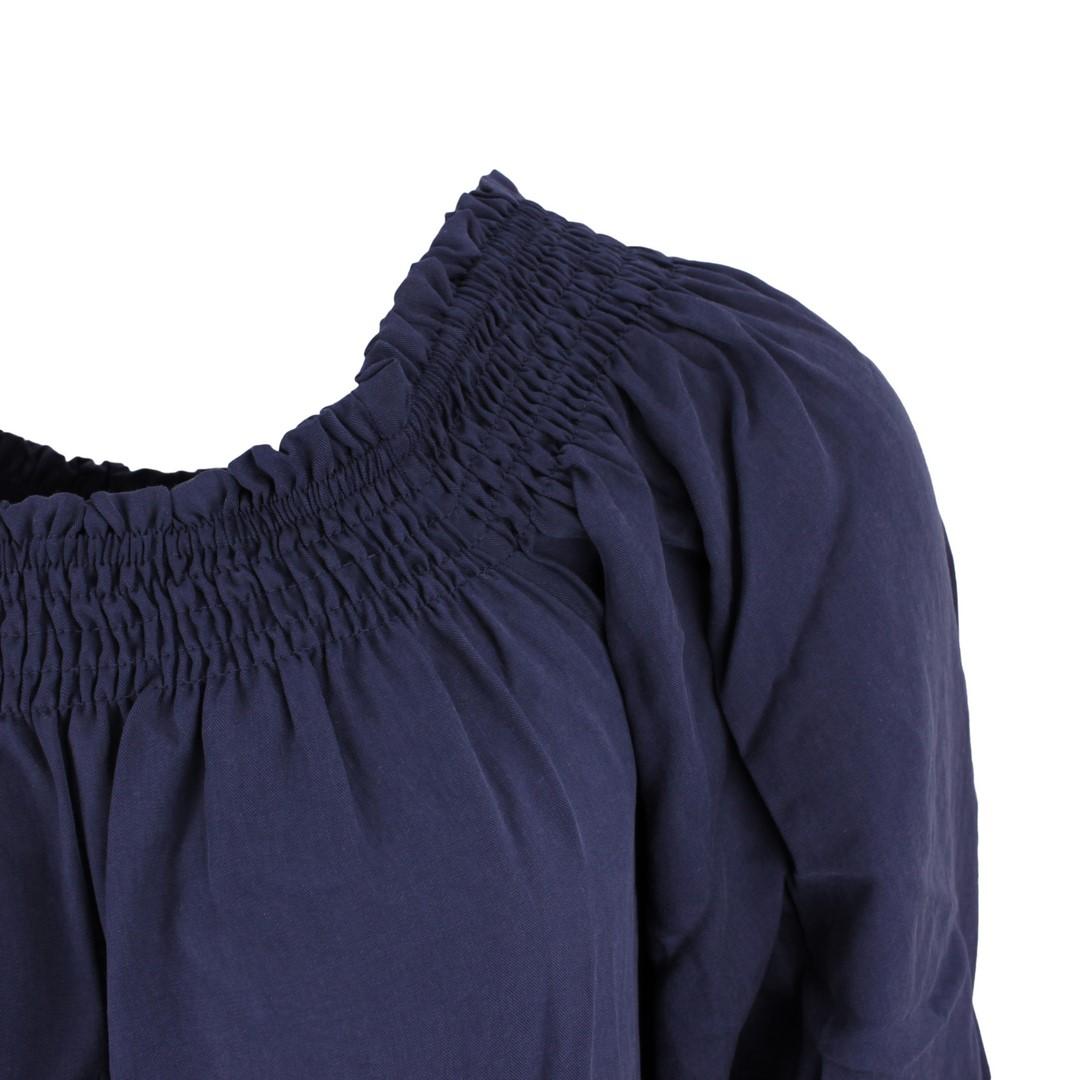 Superdry Damen Kleid Desert of Shoulders blau unifarben W8010103A GKV navy