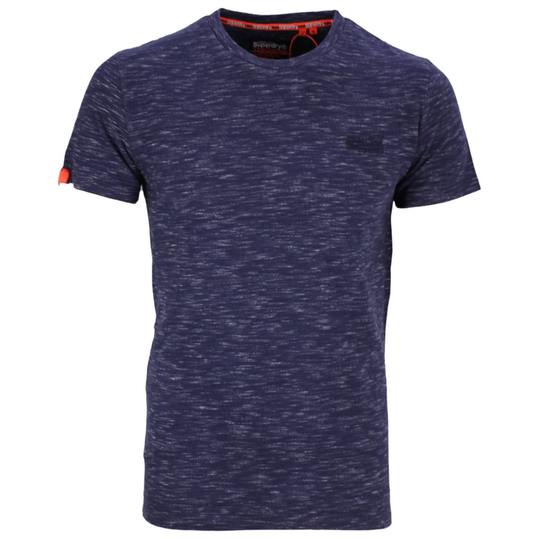 Superdry Herren T-Shirt Vintage EMB Crew blau M1010024A T1N navy