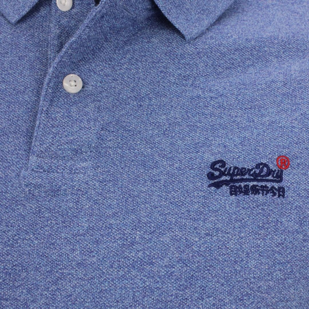 Superdry Herren Polo Shirt Classic Pique Polo blau M1110191A 5ED blue