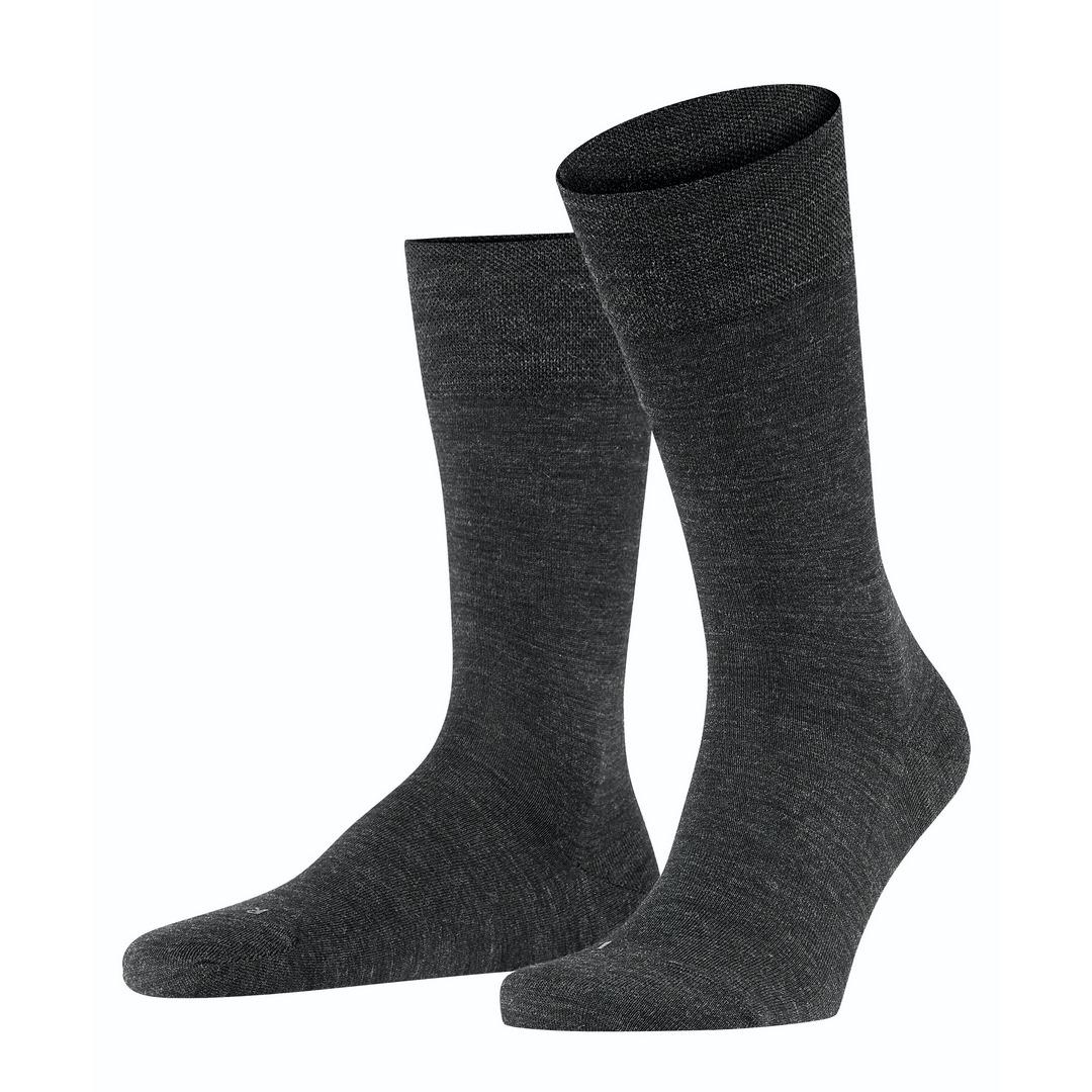 Falke Socken dunkelgrau meliert Sensitive Berlin 14416 3080 anthramel