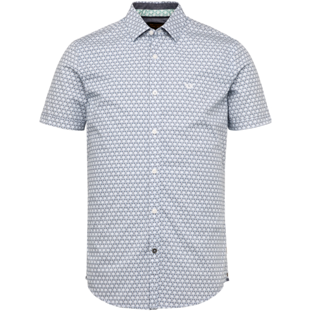 PME Legend Kurzarm Hemd blau gemustert PSIS203225 5408