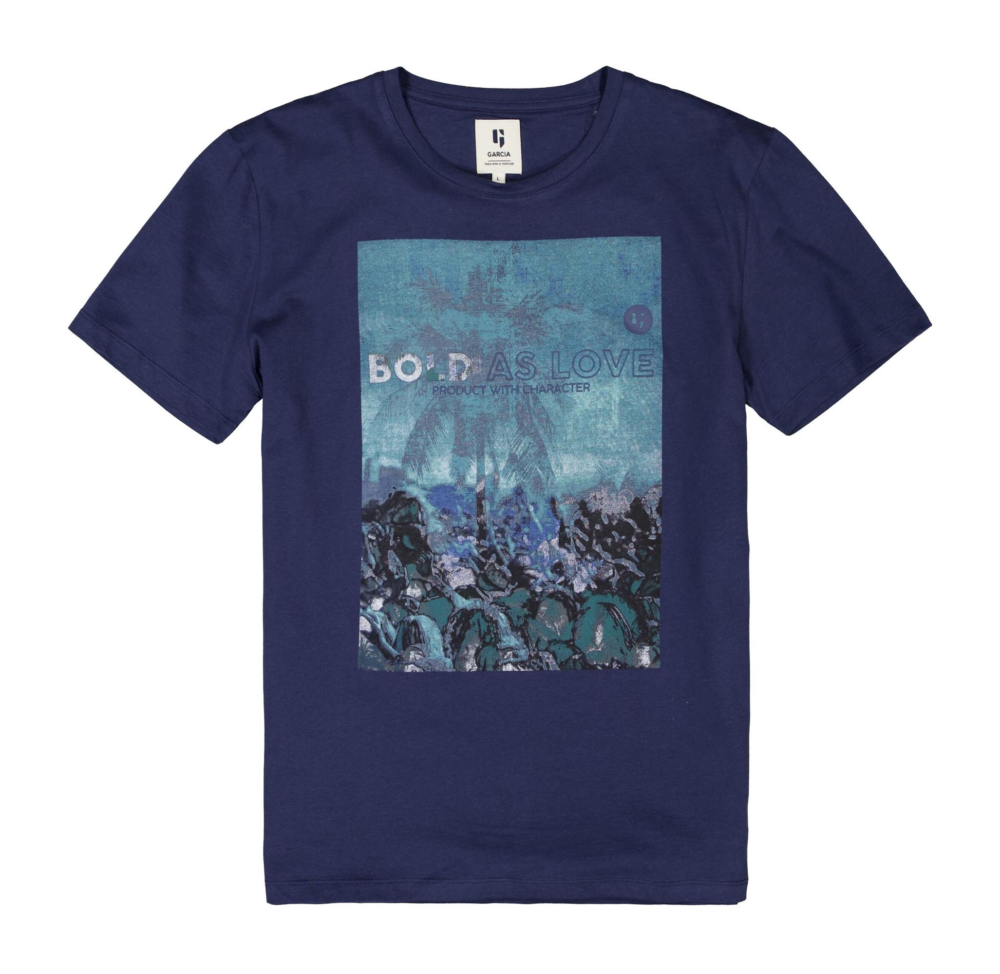 Garcia Herren T-Shirt Shirt kurzarm blau E11002 4962 denim blue
