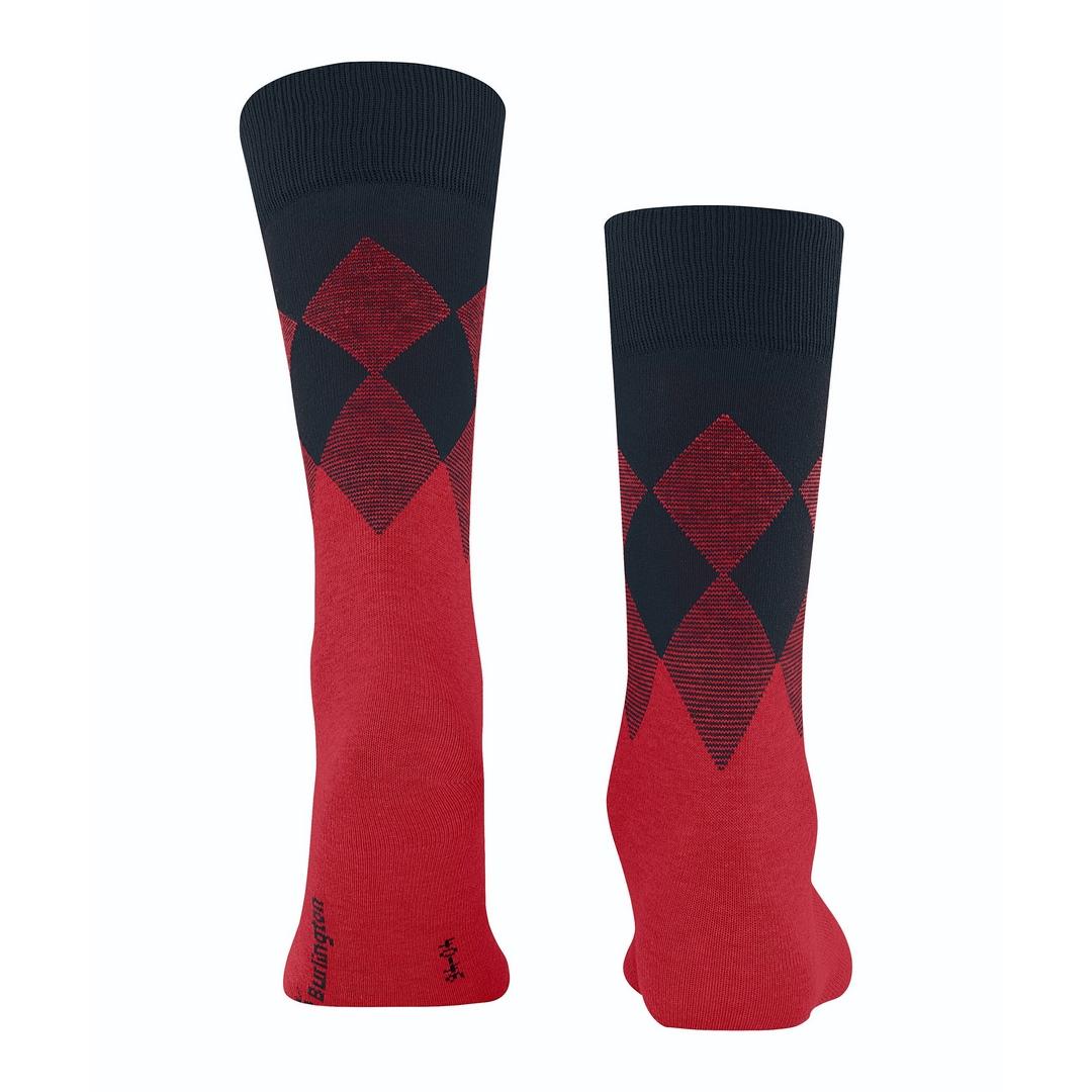 Falke Socken rot schwarz Agryl Muster Burlington Hampstead 21912 8000 lipstick