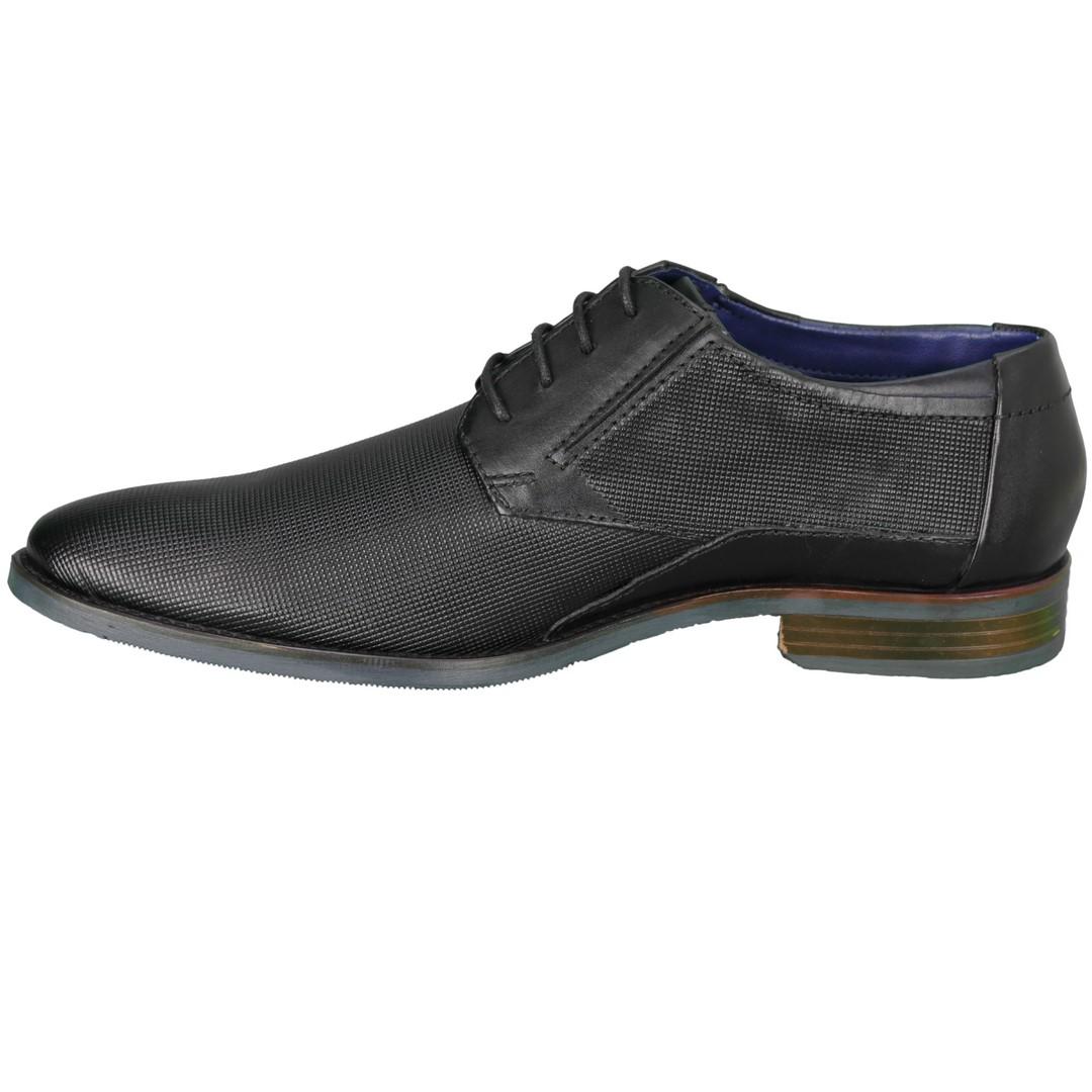 Bugatti Herren Schuhe Schnürschuhe schwarz 312 16415 1000 1000 black