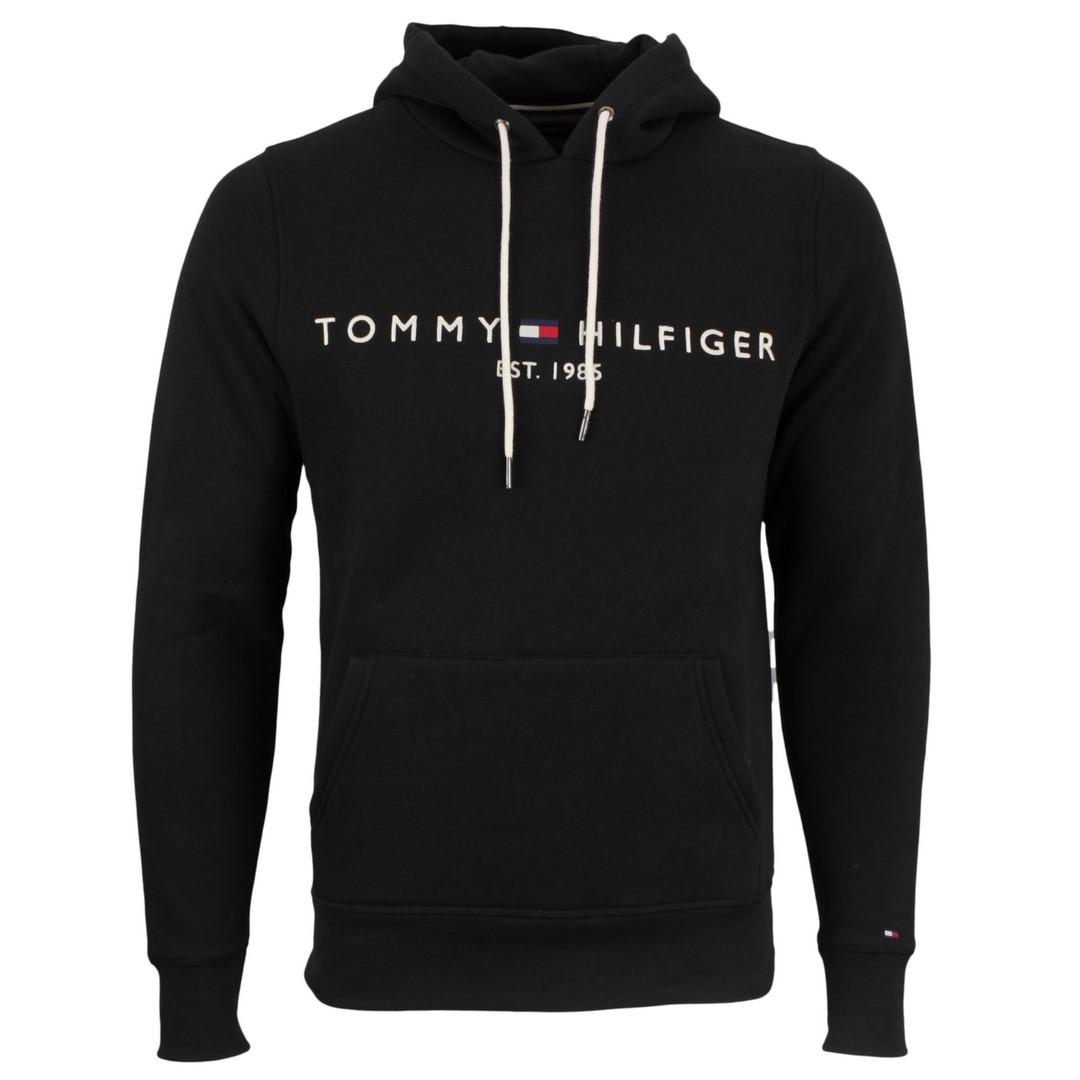 Tommy Hilfiger Core Tommy Logo Hoody Pullover schwarz MW0MW10752 BAS Jet black