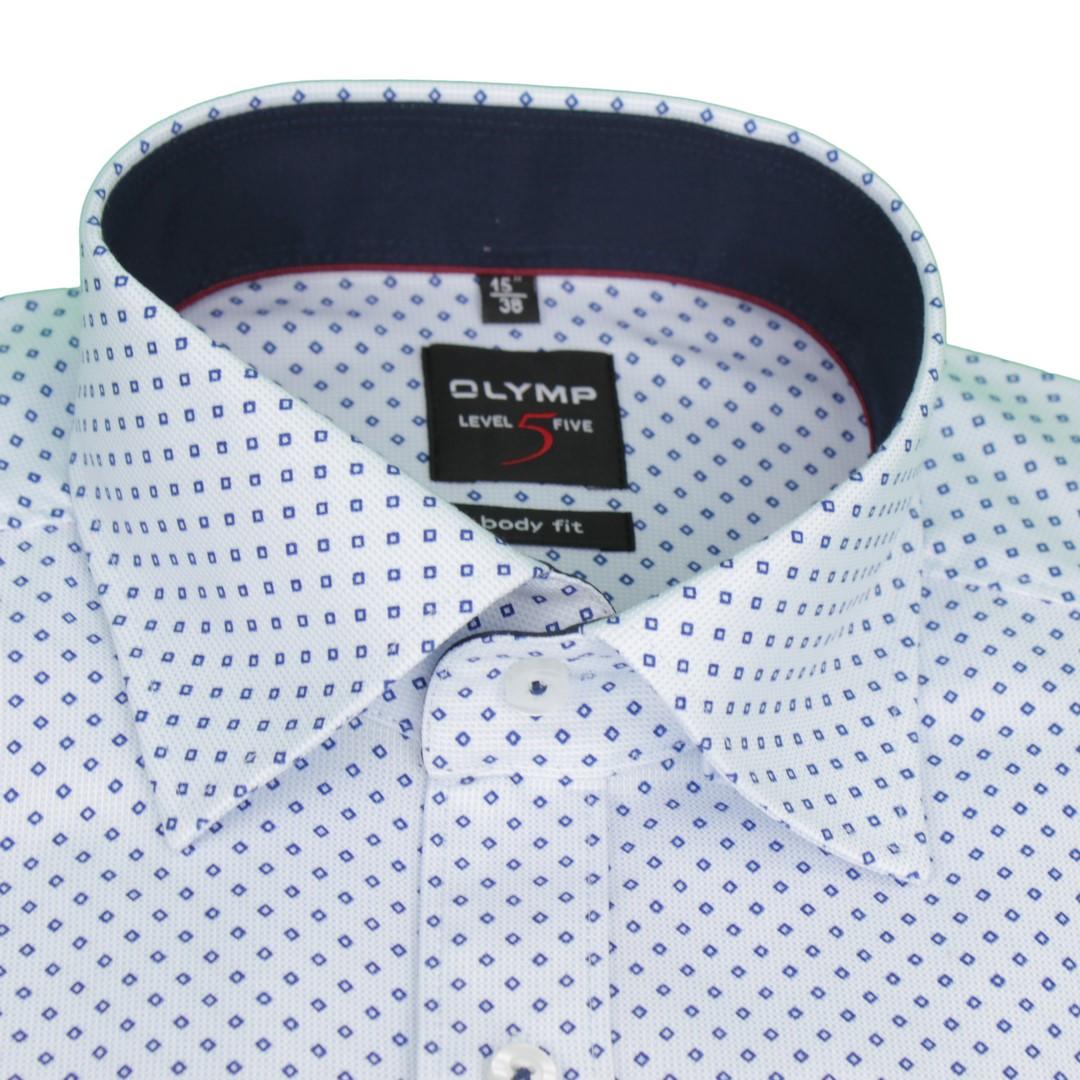 Olymp Body Fit Level 5 Hemd weiß Minimal Muster 4887 17 11