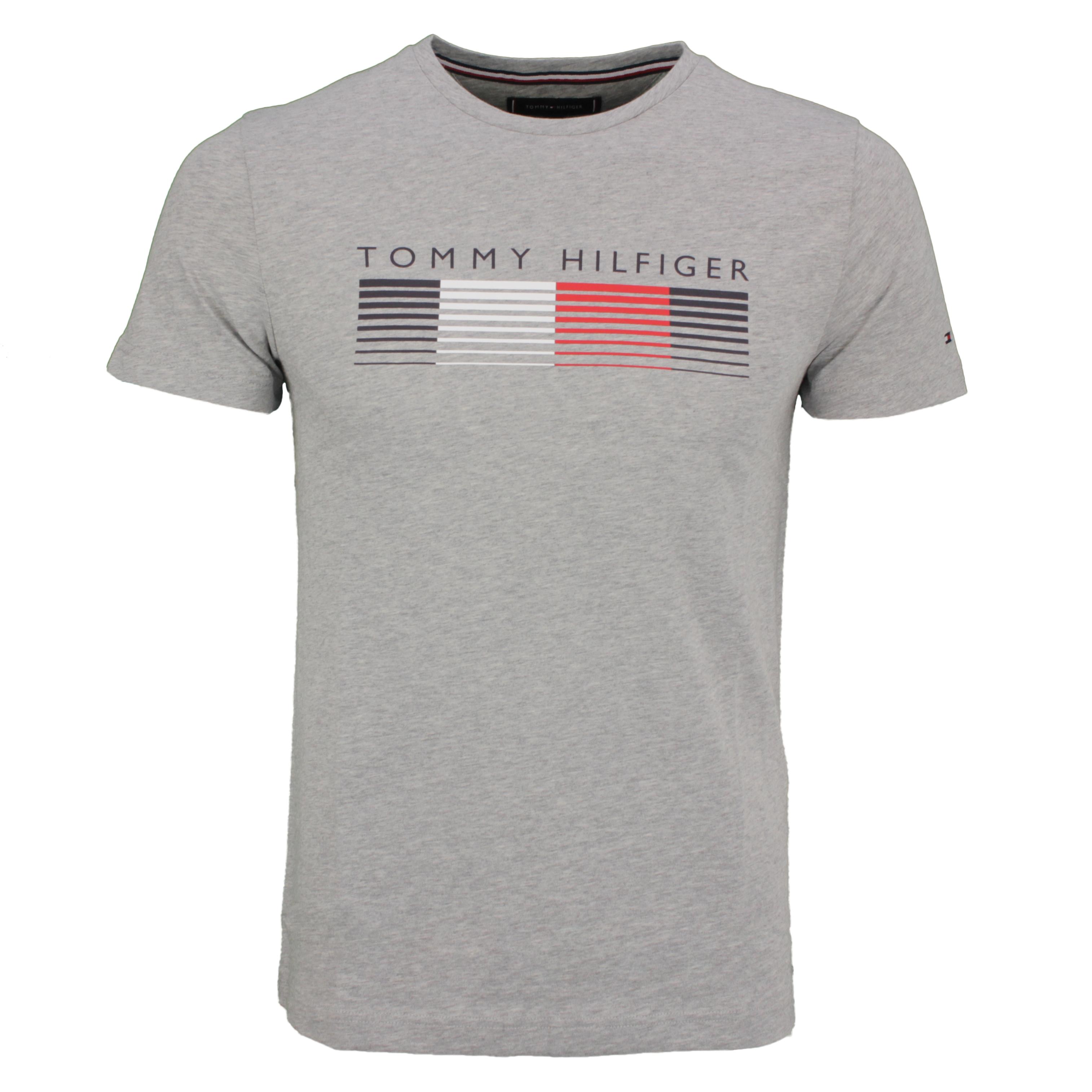 Tommy Hilfiger T-Shirt Shirt kurzarm Fade Graphic Corp Tee grau MW0MW21008 P91-GREY