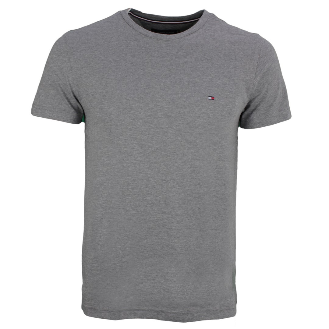 Tommy Hilfiger Herren T-Shirt grau unifarben MW0MW14983 PGU