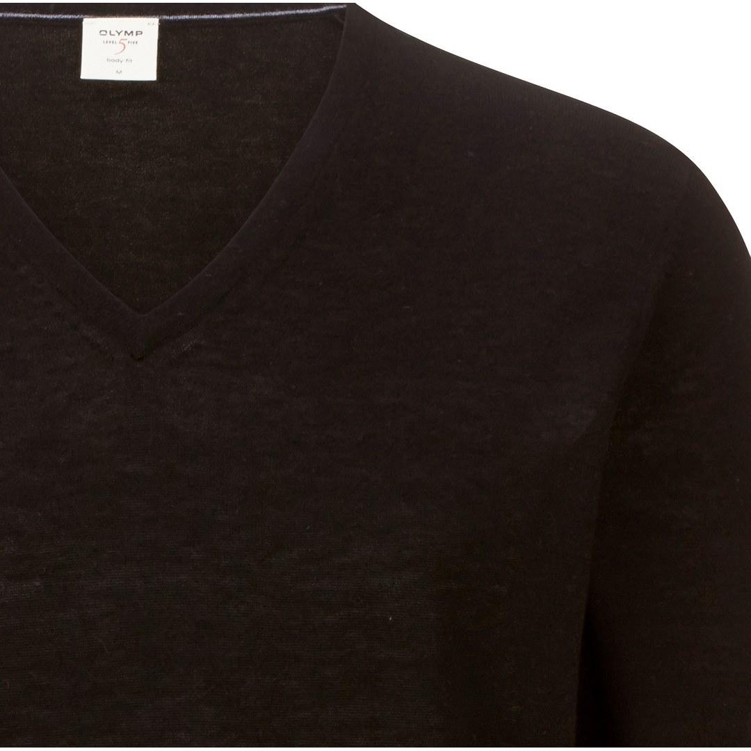 Olymp Strick Pullover Strickpullover Body Fit Level 5 schwarz black 015110 68