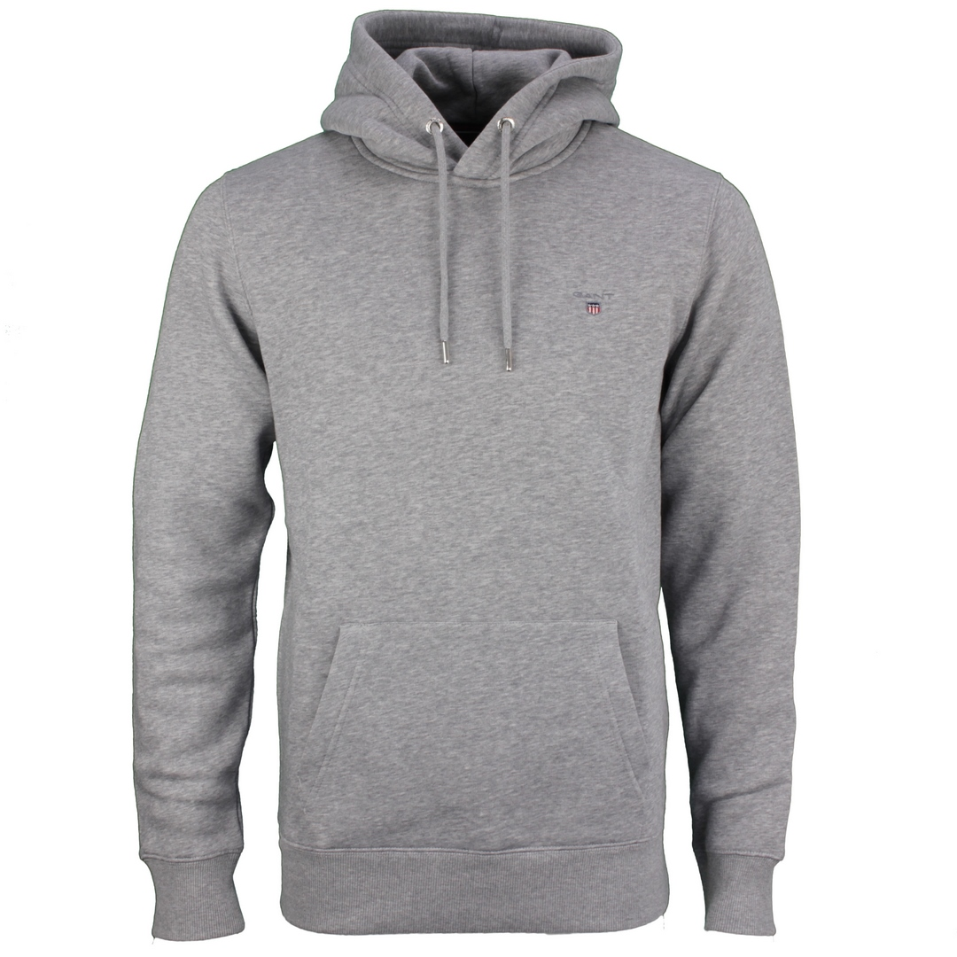 Gant Kapuzen Pullover Original Sweat Hoodie grau 2047017 93 Grey Melange